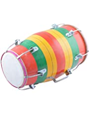 Sai Musical BD-001 1 Piece Baby Dholak - Screw Type- Multi-Colour