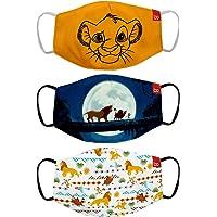 Bon Organik Lion King (OFFICIAL MERCHANDISE) 2 Ply Printed Cotton Cloth Face Mask Bundle For Kids (Set Of 3) (4-8Y)