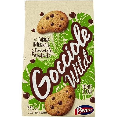 Pavesi Biscotti Gocciole Cioccolato Wild Integrali, Biscotti da Colazione, 350 gr