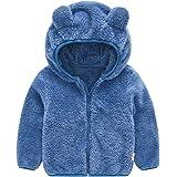 TOPKEAL Lindo Abrigo con Capucha de Orejas de Oso de Manga Larga para Niños Chaqueta Felpa Gruesa de Algodón de Bebé
