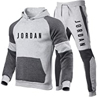 Smkenor Mens Tracksuit Set Jordan 23# Hoodie Top Bottoms Jogging Joggers Gym Sport Sweat Suit Pants (S~3Xl)