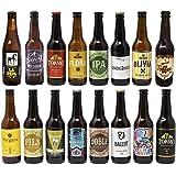 Cervezas artesanas nacionales. 16 botellas x 330ml - 5,28litros. Las mejores marcas. Incluye Río Azul Flora, medalla de Bronc