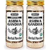 YOGAFY- Himalayan Organic Ashwagandha Herbal Powder for Boosting Immunity (400 Gram) - USDA Organic Certified   (Pack of 2) -