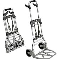 ATHLON TOOLS Aluminium Schwerlast-Sackkarre klappbar | Große leichtgängige Räder mit Soft-Laufflächen | inkl. 2…