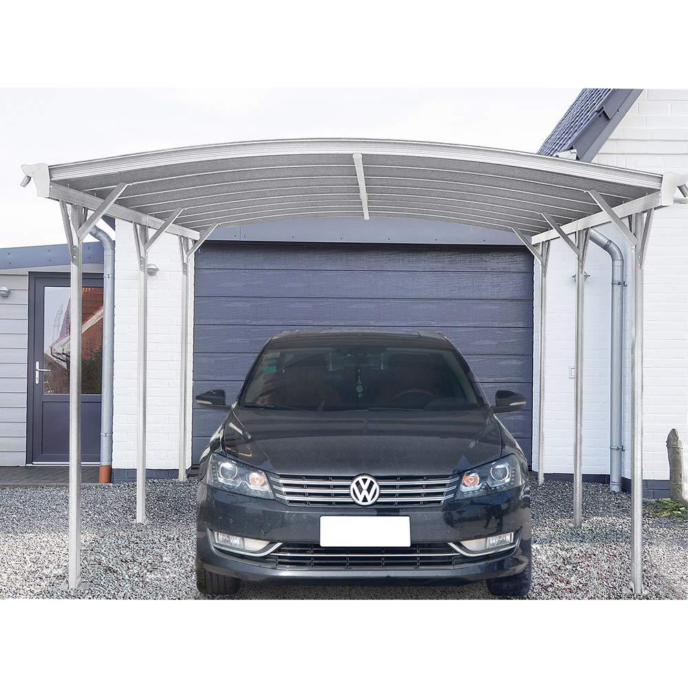 Home Deluxe – Design Carport weiß – Falo – Maße: 505 x 300 x 226/240 cm – komplett inkl. Montagematerial