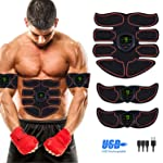 Abs Stimulator Abdominal Muscle, EMS ABS Trainer Body Toning Fitness, USB Rechargeable Toning Belt ABS Fit Weight Muscle...