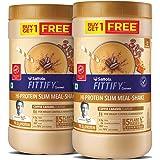 Saffola FITTIFY Gourmet Hi-Protein Slim Meal Shake - Coffee Caramel, 420 gm (Buy 1 Get 1 Free)
