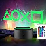 Xpassion Playstation Lampe mit Farbwechsel Funktion 16 Farben LED-Tisch-Schreibtisch-Lampen USB-Lade, die Schlafzimmer-Dekora