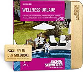 Jochen Schweizer Hotelgutschein WELLNESS-URLAUB für 2   2 ÜN für 2 Personen   inkl. Gutschein für Frühstück und Abendessen  160 Hotels vorwiegend 4****   inkl. Katalog und Geschenkbox