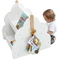 Labebe-Étagère Livre, Bibliothèque Rangement Bois, 2-en-1 Mini Étagère pour Enfant Garçon et Fille de 1-5 Ans, Basse et…