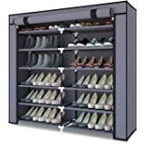 Meerveil Armoire à Chaussures,Meuble à Chaussures,Armoire Tissus Rangement de Chaussures,Etagères de Rangement pour 36 Paires
