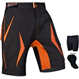 Shorts de MTB Brisk, VTT Cuissard Off Road Cycle de vélos Coolamax rembourré, Doublure intérieure Amovible, Free Style Taille