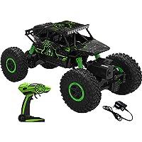 AJUDIYA ENTERPRISE Plastic 1:18 Rechargeable 4Wd 2.4GHz Rock Crawler Off Road R/C Car Monster Truck Kids Toys   Remote…