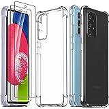 Ferilinso Hoes + 2 stuks screenprotector gehard glas voor Samsung Galaxy A52 4G&5G/ A52s 5G [Schokbestendige transparante sil