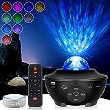 Veilleuse Enfant Planetarium Projecteur LED, Projecteur ciel etoile avec Intégré Bluetooth Haut-Parleur Capteur de Son Contrô