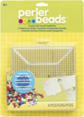 Perler Beads Clear Square Pegboards (4 Pack)