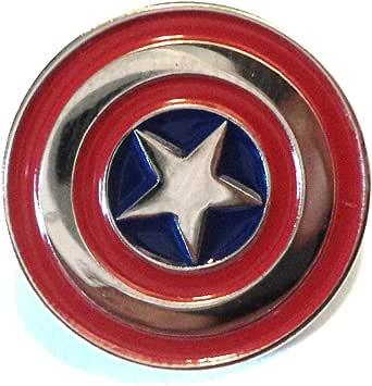Stemma iconico in metallo smaltato con logo Captain America