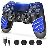 PS4-controller, controller voor PS4, draadloze controller met dubbele vibratie, stereo hoofdtelefoonaansluiting, touchpad, ze