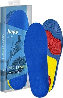 Kaps RELIEFSPORT - Semelles Orthopédiques de Qualité Supérieure pour Chaussures de Sport - Semelles Intérieures pour plus de Soutien, Équilibre et Soulagement de la Douleur, Taille à Découper
