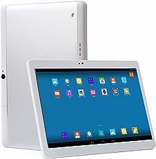 MediaTab M8 10 Zoll Tablet PC 4G Dual SIM GPS Android 7.0 64GB Octa-Core 2GB RAM HD IPS Display 1920 x 1200 Kamera (inkl. Tastatur / Tasche, Silber)