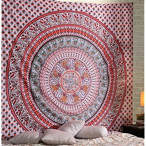 Decoración para la pared, India Mandala Tapiz banda Colcha, dormitorio de la tapicería, la pared decorativos colgantes, Hoja de picnic en la playa Por