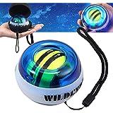COLFULINE Palla per Esercizi Giroscopio, Energy Ball per Allenare Muscolatura di Mani e Braccia, Palla da Polso con Impugnatu