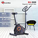 Powermax Fitness BU-500 Magnetic Upright Fitness Bike - Exercise Cycle for Home use