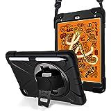 ProCase Bumper iPad Mini 2019 5.ª Generación/Mini 4, Carcasa Rugosa con Soporte 360° Rotativo Asa de Mano Correa de Hombro, F