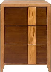 Estink Comodino in Legno Moderno 42 x 35 x 53 cm Comodino da Letto con Cassetti Tavolino Moderno Comodino Piccolo da Camera Gambe in Legno Massello
