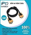 SAFEBUY VGA to VGA 3 m Cable (Black)