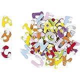 Janod - Mallette de 52 Lettres Magnétiques Splash - Accessoire Tableau Enfant - Apprentissage Alphabet et Lecture - Dès 3 Ans