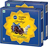 Pillsbury Cookie Cake - Greetings Gift Pack, 240g x 2, 480g