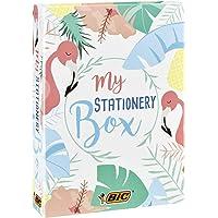 BIC My Stationery Box - 28 Strumenti Per La Scrittura, 10 Marcatori/6 Penne A Sfera/4 Evidenziatori/1 Correttore/5…