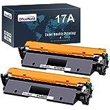 OfficeWorld Sostituzione per HP 17A CF217A Cartuccia di toner con Chip (2 Nero) Compatibile per HP Laserjet Pro M102A M102W,