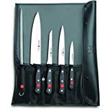 Wüsthof TR9785 Trousse de Chef avec 4 Couteaux Gourmet + Fusil à aiguiser 43 x 13 cm