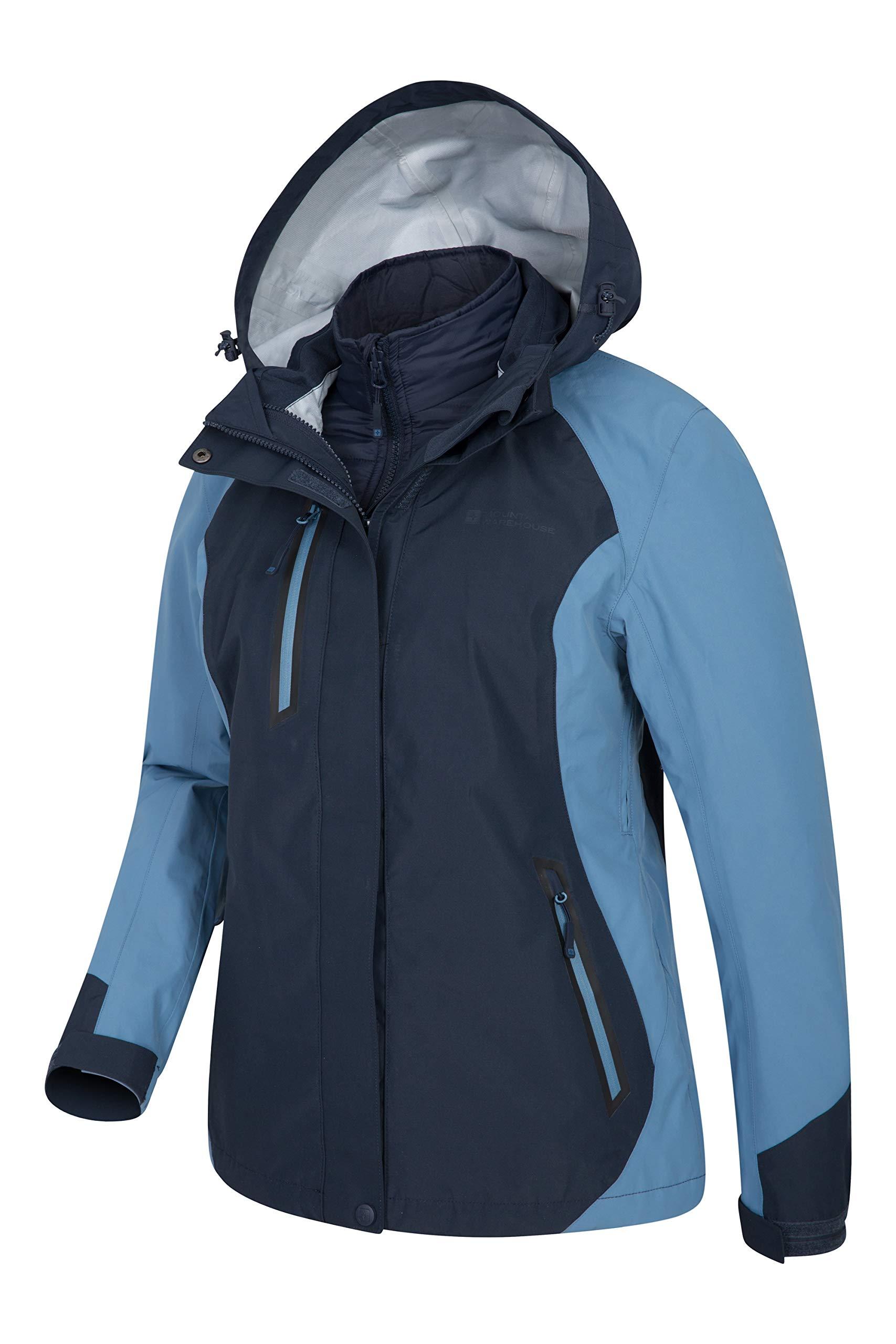 Mountain Warehouse Zenith Womens 3 in 1 Padded Jacket - Waterproof  Raincoat 60d3a15f04ef