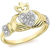 Carissima Gold Anello da Donna in Oro Giallo 9K con Diamante