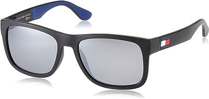 Tommy Hilfiger Men's TH 1556/S Sunglasses, Blue (Blk Blue), 56