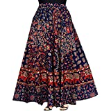 FrionKandy Women Maxi Skirt (SHKC1004_ Size_Multicolored_Free Size)