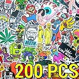 200pcs Sticker Stickerbomb 200 piezas paquete - Alta calidad. Para portátil, portátil, monopatín, niños, pegatinas de maleta conjunto Calcomanías de época Vinilo adhesivo - King Mungo - KMST003
