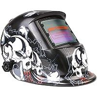 FIXKIT Masque de Soudage Electrique Energie Solaire Avec 2 Capteurs Optiques pour MIG/MAG/TIG/Coupage Plasma etc…