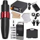 Anself Tattoo Machine Kit Pro Rotary Tattoo Machine Pen Kit with 20 pcs Tattoo Cartridges Power Supply Practice Skin Foot Ped