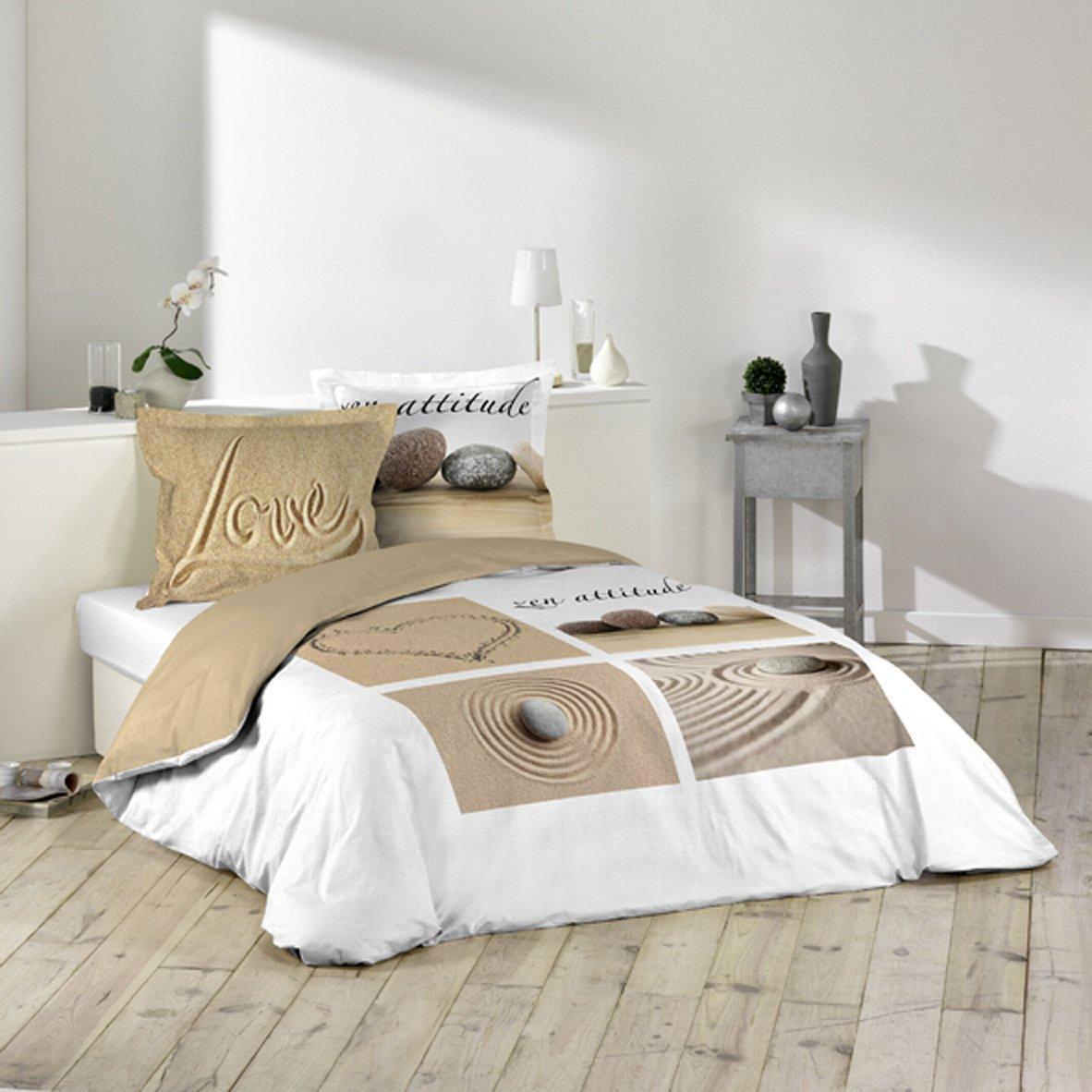 douceur dintrieur parure de lit 2 personnes imprim love 220 x 240 cm amazonfr cuisine maison - Parure Housse De Couette 2 Personnes