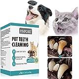 PINPOXE Tartaro in Polvere per Cani e Gatti, rimozione del tartaro Cane e Gatto, Polvere di tartaro Naturale, 100% Naturale R