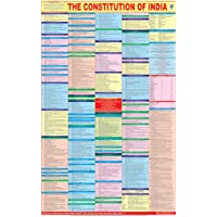 Constitution Of India Chart - Laminated   2020 New Updated Edition   Ideal for Civil Services, UPSC, IAS, Polity and Law…