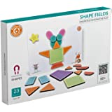 Butterfly EduFields Magnetic Shapes Puzzles Toys for Kids Boys & Girls -Pack of 23 Pieces | Educational Foam Toy Gift for Unl