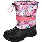 Kuako Stivali da neve per bambini, invernali, da snowboard, per attività all'aperto, impermeabili, caldi e invernali