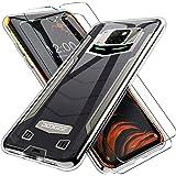 LYJERRY para DOOGEE S88 Plus/DOOGEE S88 Pro Tapa + 2Pcs Cristal Templado para DOOGEE S88 Plus/DOOGEE S88 Pro Funda Cover Sili