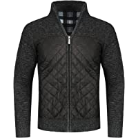 YOUTHUP Mens Knitted Cardigan Fleece Lined Sweater Thick Jumper Warm Winter Jacket
