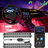 Bande LED Intérieur Auto avec APP, Govee LED Auto Intérieur 4pcs 48 LED Conception à Deux Lignes Améliorée Étanche…